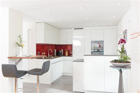 moderne küchengestaltung k 252 che theke wand