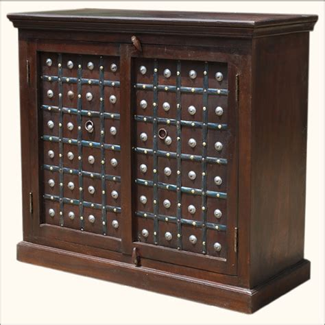 kitchen sideboard cabinet traditional wood iron rustic buffet sideboard storage kitchen cabinet credenza ebay