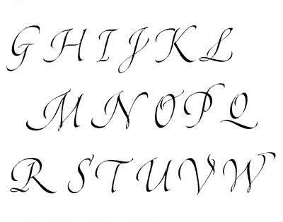 stencil lettere da stare calligraphie chanceli 232 re alphabets lettres stages