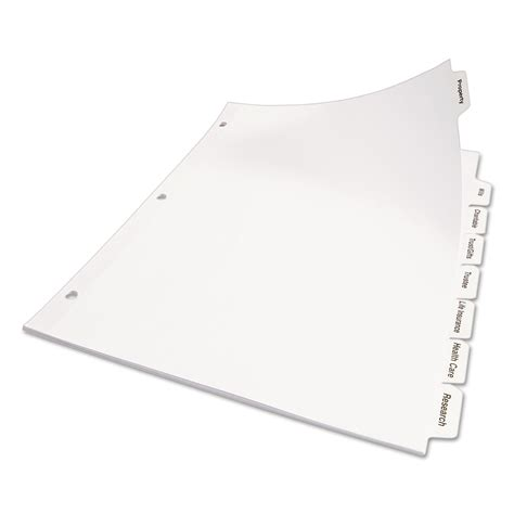print apply clear label dividers w white tabs by avery