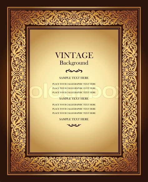 vintage background antique ornamental frame victorian
