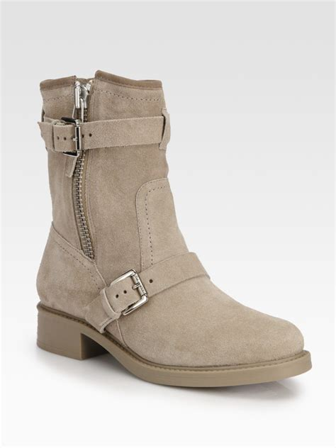 pour la victoire ultra suede buckle motorcycle boots in