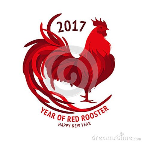 new year 2018 rooster rooster happy new year 2017 vector stock
