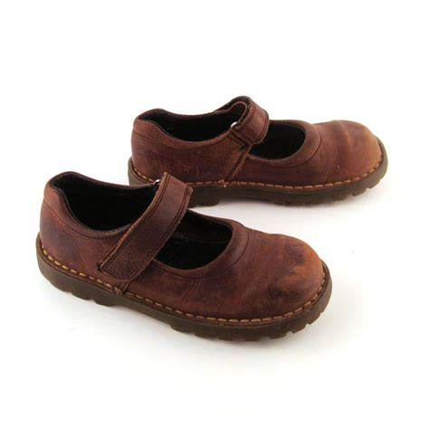 doc martens shoes doc martens shoes janes 1990 brown by purevintageclothing