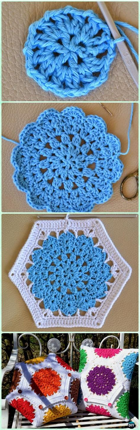 Crochet Hexagon Motif Free Patterns best 25 hexagon crochet pattern ideas on