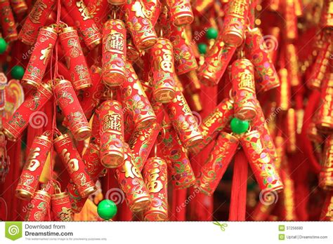 new year firecrackers meaning firecrackers for decoration stock photo