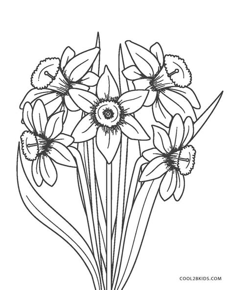 color pages free printable flower coloring pages for cool2bkids