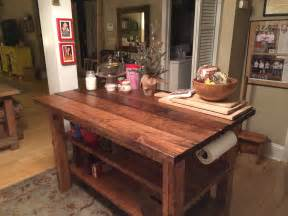 Rustic Kitchen Island Plans by Built Rustic Kitchen Island