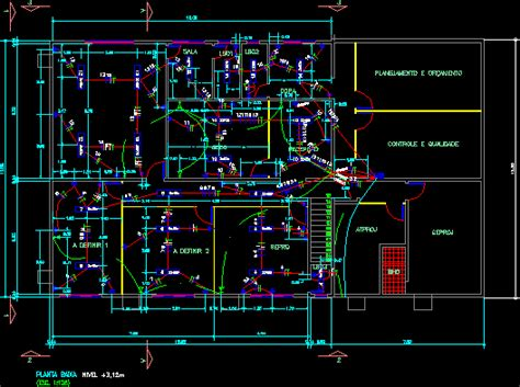 shop electrical project dwg full project  autocad