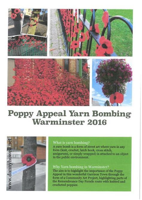 yarn bombing day 2016 dannyhowell net yarn bombing warminster s remembrance day