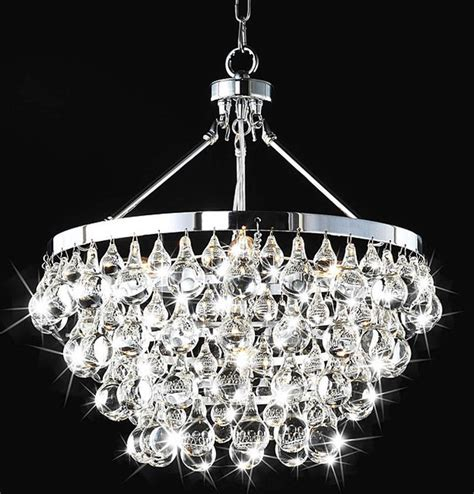 Modern Glass Chandelier Lighting Indoor 5 Light Luxury Chandelier Contemporary