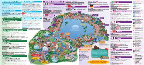 printable epcot tickets image gallery epcot map 2014