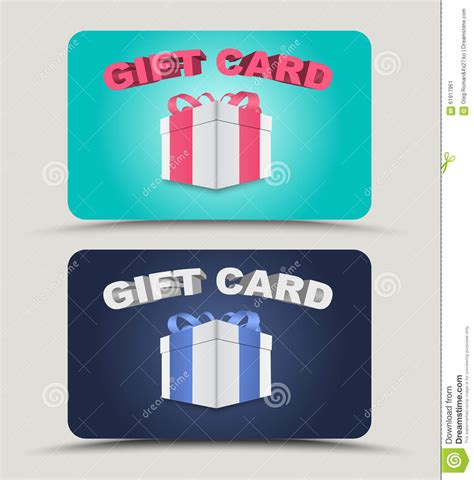 Text Gift Cards - design gift cards stock vector image 61917961