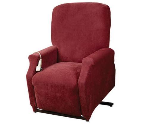 sure fit medium lift recliner slipcover h349970 qvc