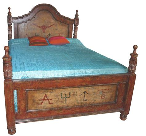 pillares painted western bed western bedroom furniture
