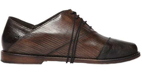 oxford lace up shoes non sinatra leather oxford lace up shoes in brown