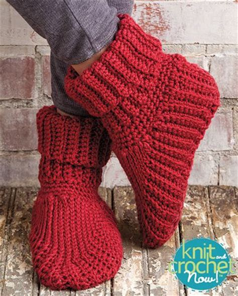 knit and crochet today free patterns free slipper boots crochet pattern designed by