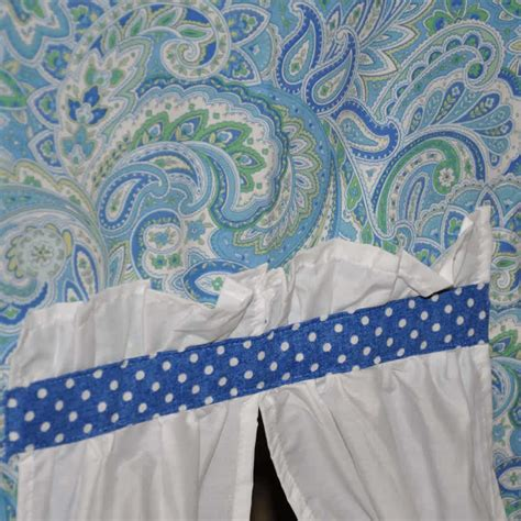 Paisley Curtains Blue Blue Green Paisley Polka Dot Tent W Maxtrix Loft Or Bunkbed