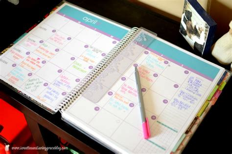 this is the day planner diary by erin rippy diy erin condren deluxe notebook review sweet tea saving grace
