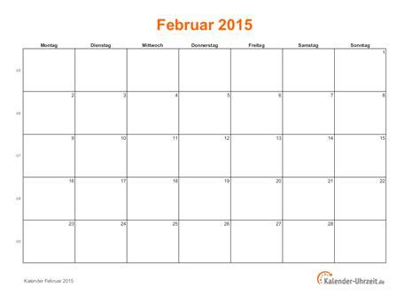 Kalender 2015 Ausdrucken Februar 2015 Kalender Mit Feiertagen
