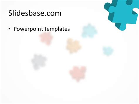 3d Colorful Puzzle Powerpoint Template Slidesbase Powerpoint Jigsaw Template 2