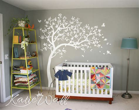 room stickers unisex baby room decoration large customizable nursery wall tree stickers kw032r ebay