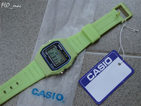 Casio F 91w 3d casio f 91w green flo mac flickr