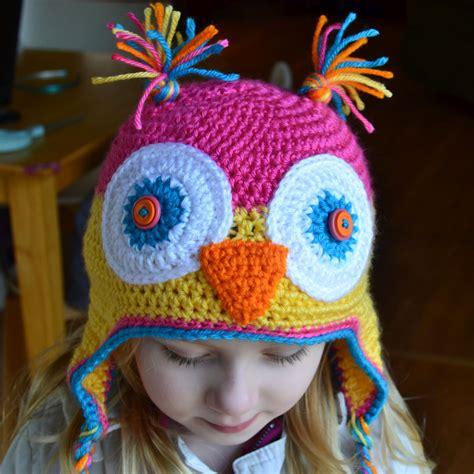free pattern owl hat free kids animal hat crochet patterns for dress up