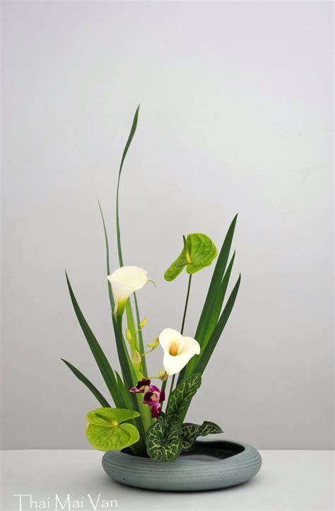 Japanese Decorative Of Flower Arrangement by Ikebana Vase Pronounced E K Bana Which Means Quot The Way Of