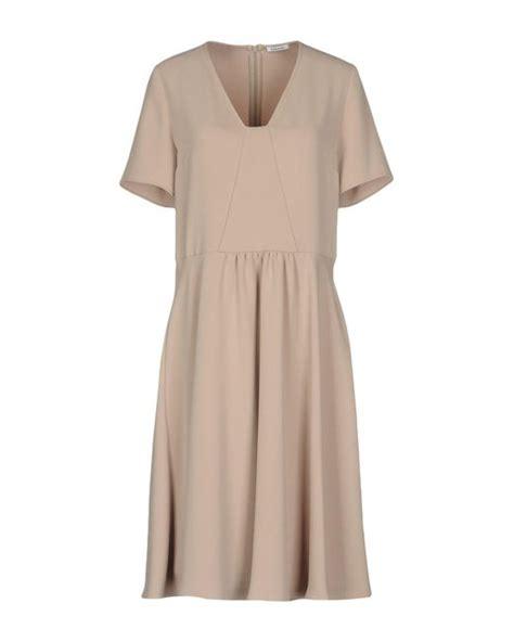 P A R O S H Knee Length Dress p a r o s h knee length dress in lyst