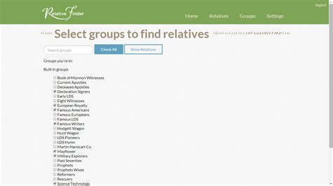 Relative Search Genea Musings Find Relatives On The Byu Edu Relative Finder Website