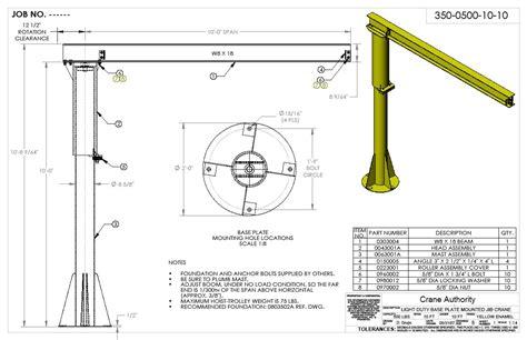 pedestal jib crane jib crane free standing jib cranes by crane authority