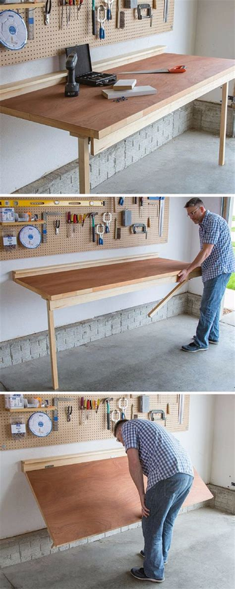 do it yourself storage bench 36 diy ideas you need for your garage folding workbench
