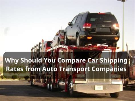 compare car shipping rates  auto