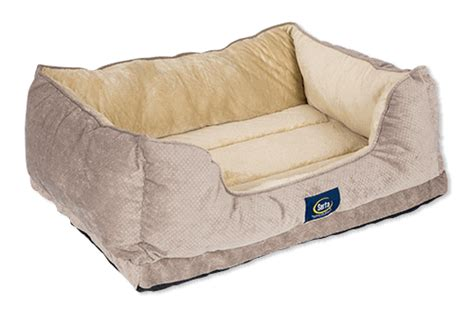 pet r for bed serta deluxe cuddler pet bed