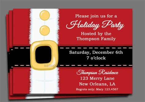 Pictures Of Christmas Party Invitations - christmas party invitation printable or printed with free shipping santa claus is coming to