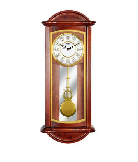 pendulum wall clock ajanta brown pendulum wall clock buy ajanta brown pendulum wall clock at best price in india on