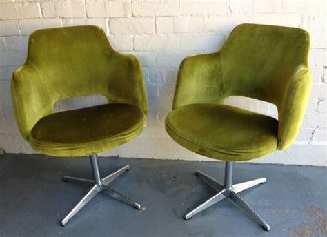 ebay green velvet dining chairs vintage kendall green velvet swivel chair tub mid century