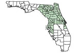 central florida map with counties area of responsibility for the u s fish and wildlife