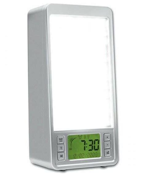 system 2 in 1 simulator sun rise light alarm clock sad light box ebay