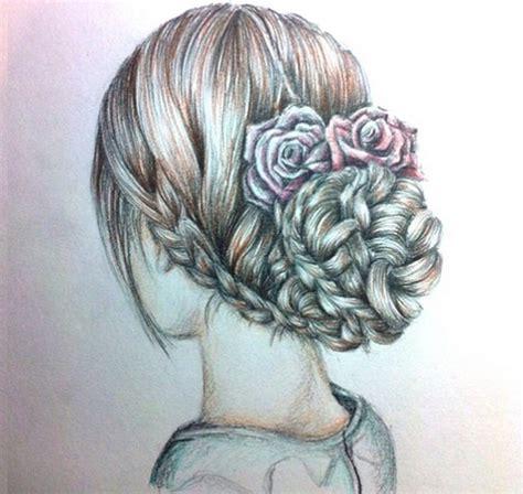hairstyles drawing tumblr hair up image 1913472 by patrisha on favim com