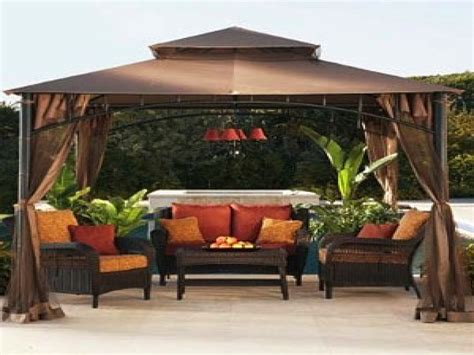 deck wicker lowes lawn chairs set with gazebo for outdoor