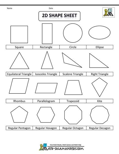 name the pattern math list of geometric shapes 2d shape sheet bw gif 1 000 215 1 294
