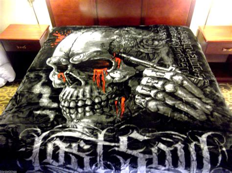 skull blankets comforters new 5 pounds soft queen korean mink blanket plush throw