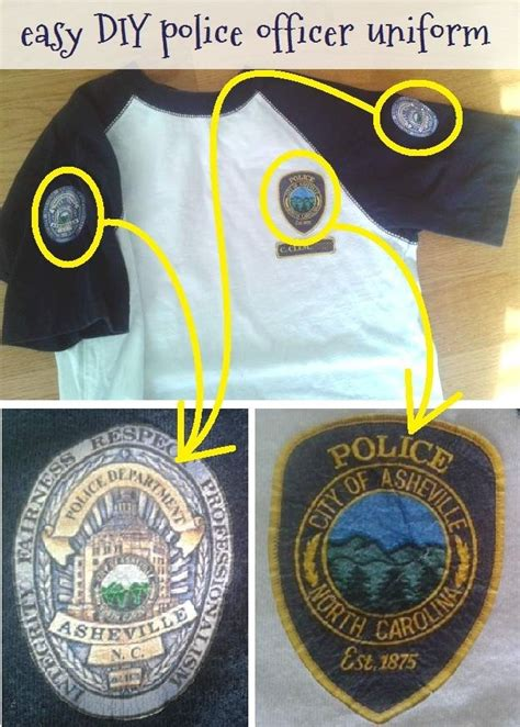 easy diy police officer uniforms  shirts  police