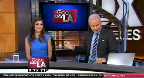 heather dubrow mocked by good day la anchor over fox news los angeles cast