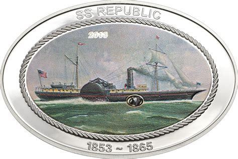 Calendar 64 Cook County 5 Dollars Elizabeth Ii Steamship Ss Republic Cook
