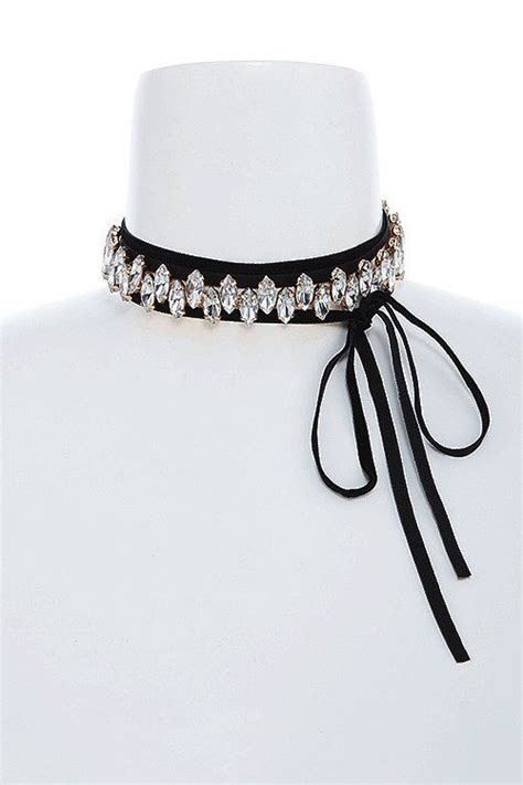 Bow Accent Choker floral lace bow accent choker necklace choker