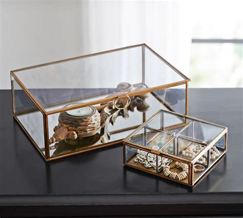 jewelers desk pottery barn callie glass boxes pottery barn