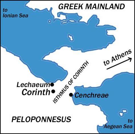 map of corinth introduction to 2 corinthians second corinthians